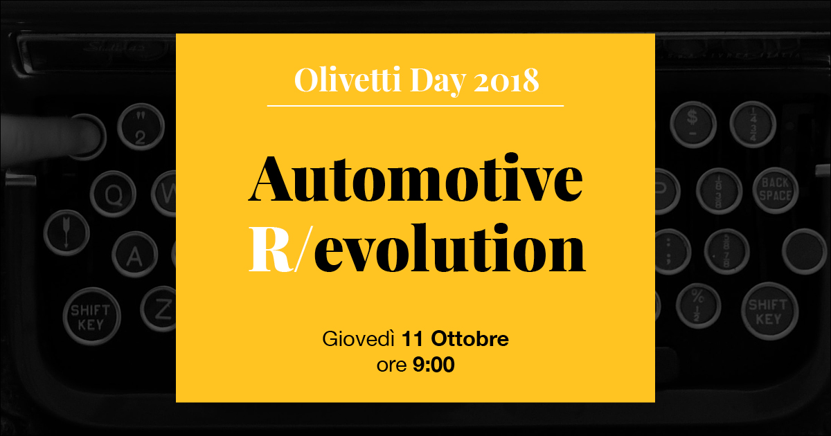 Olivetti Day Automotive r/evolution